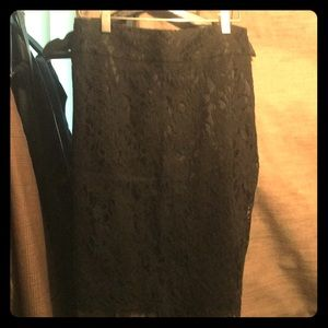 Black Banana Republic lace skirt